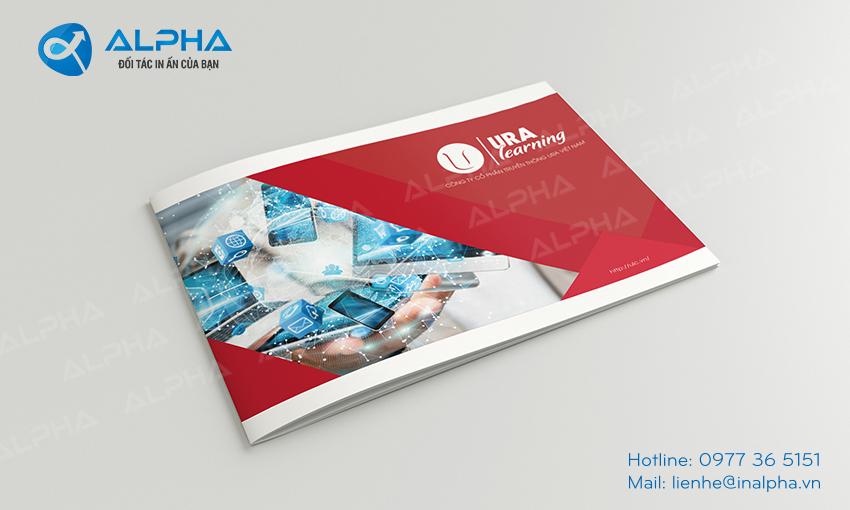 Mẫu thiết kế Catalogue URA learning