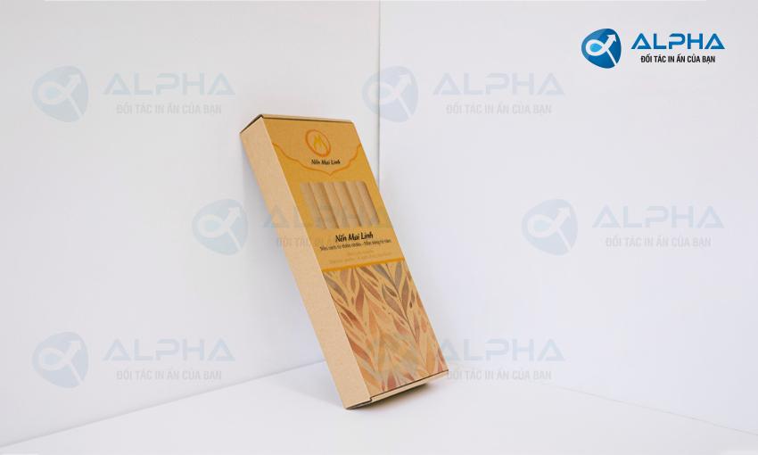 Mẫu hộp nến Mai Linh