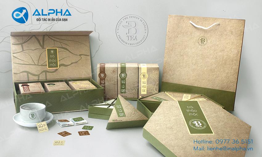 Mẫu thiết kế bao bì hộp trà thảo mộc