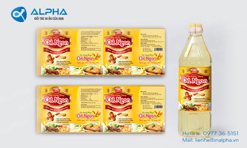 Mẫu thiết kế tem nhãn dầu ăn
